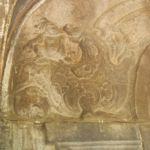 壁の彫刻の拡大図