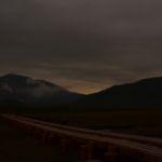 至仏山脇に沈む夕日1
